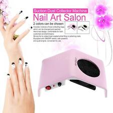 220V Nail Art Dust Suction Collector Manicure Filing Acrylic UV Gel Machine Set