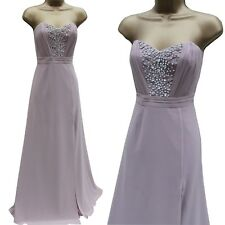 Lipsy VIP Red Carpet Nude Pleated Embellished Grecian Long Maxi Ballgown Dress