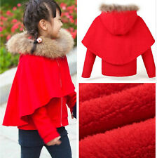 new children's fall winter girls plus thick cashmere woolen cape coat