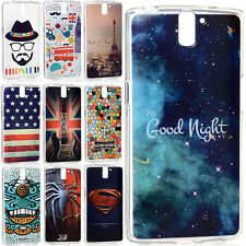 New Fashion Patterns Clear Soft TPU Bumper Cover Case Skin For OnePlus One A0001