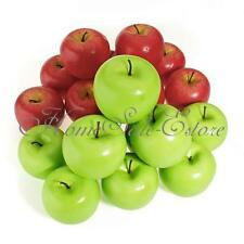 6/10Pcs Lifelike Artificial Plastic Apples Fruit Kitchen Display Home Food Decor
