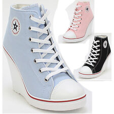 Wedges Trainers Heels Sneakers Platform High Top Ankles Lace Ups Zip Boots Shoes