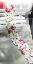 1-6yd 2Rows colorful 3D Rose sewing Venise Lace Fabric DIY doll dress craft L149