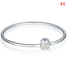 Fashion Bangle Bracelet For CA European sterling solid Silver Charms Beads Lot