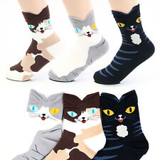 Women Tabby Cat Socks Fashion Ladies Girls Character Printed ts1-7