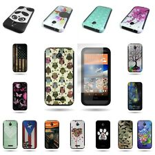 Hybrid Design Case Slim Fit Hard + Soft Protector Cover For HTC Desire 510