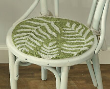 """Fern Hooked Chair Pad by Park Designs, 14.5"""" Diameter, With Ties, One or Set"""