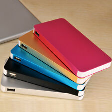 Ultrathin 12000mAh 2 USB Mobile Power Bank Battery Pack Charger For Phone Iphone