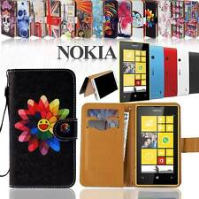 Folio Flip Wallet Card Stand Leather Magnetic Case Cover For Various Nokia Phone