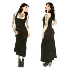 LIP SERVICE WIDOW MAXI LONG GOTHIC GOTH ROCKABILLY TATTOO PROM EMO PUNK ROCK