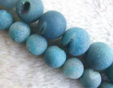 14mm 18mm Blue Agate Round Loose Beads Bead 15.5""