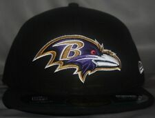 BALTIMORE RAVENS ON-FIELD 59FIFTY AUTHENTIC FITTED HAT / CAP NEW ERA BLACK