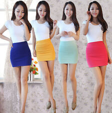 Sexy Women's MINI Short SKIRT Slim Seamless Stretch Tight Wrap Fitted Skirt JT55