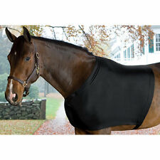 HORSE MANE SAVER SLINKY BLACK LYCRA SHOULDER BLANKET RUB GUARD ALL SIZES