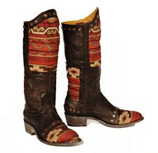 """Old Gringo Western Boots Womens Marico 13"""" Razz Chocolate Red L1639-2"""