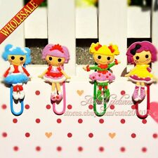 4PCS The Lalaloopsy Bookmarks for Book Page Holder,Mini Paper clip,DIY Bookmarks