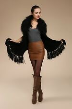 0360 Mongolian Sheep Fur Rabbit Fur Vest Gilet Sleeveless Waistcoat Shrug Cardig