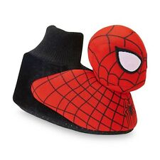 SPIDER-MAN MARVEL COMICS Boys Plush Sock-Top Slippers NWT Sz. 7/8, 9/10 or 11/12