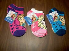 NWT Disney Frozen 3-Pair Pack of Toddler Girls Ankle Socks Size 4-6 or 6-8