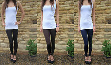 LONG LENGTH INSEAM  Leggings HIGH RISE Combed Cotton SIZES 8 - 24 Tall