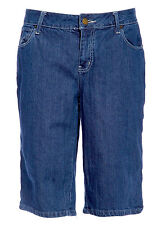Hint Womens Boyfriend Jeans Shorts Mid Waist Working Soft Denim Pants Plus Size