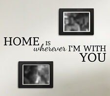 Wandtattoo Home is wherever I'm with you Wandaufkleber für Fotogalerie W3160
