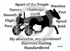 STANDARDBRED HARNESS HORSE My Obsession, Any Questions? T-shirt choice of color