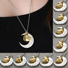 "2015 New Family ""I LOVE YOU TO THE MOON AND BACK "" Necklace Pendant Fortune Gift"