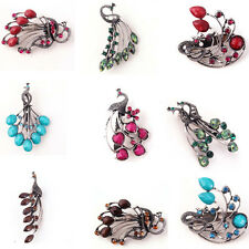 Blog a Fashion Style Elegant Resin Peacock Brooch Jewelry Hot