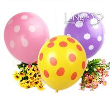 LiNg's Polka Dot Latex Round Balloons Wedding Party Helium Printed Gift Decor