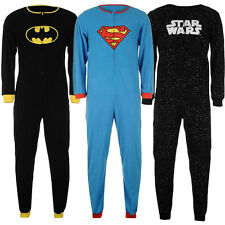 Marvel Einteiler Superman Batman Spiderman Herren Jumpsuit S M L XL XXL neu