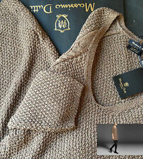 NWT Gold Brown Cable Knit MASSIMO DUTTI dress Size S