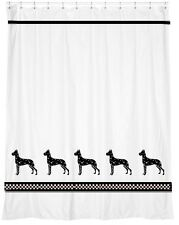 Great Dane Harlequin Dog Shower Curtain *Your Choice of Colors* - Our Original