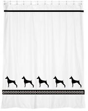 Doberman Pinscher Dog Shower Curtain *Your Choice of Colors* Our Original