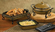 Molasses Bakeware by Park Designs, Durable Stoneware, Choice of 3 Styles, Sets
