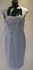 HOLLY WILLOUGHBY Ribbed Pencil Grey Frayed Edge UK Size 8 -10 NEW TAGS