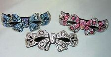 EXQUISITE CRYSTAL BOW BARRETTE SELECT COLOR SHIPS FAST FROM USA