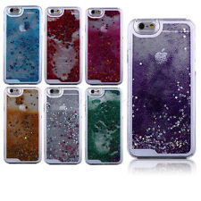 Beautiful Bling Glitter Star Dynamic Quicksand Clear Hard Back Skin Case Cover