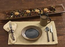 Burlap Placemats & Napkins by Park Designs, Cotton Feel, Burlap Look, Pick Set
