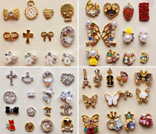 10pcs 3D Nail Art Alloy Decoration Bling Rhinestone Charm Glitter Tips DIY #N2