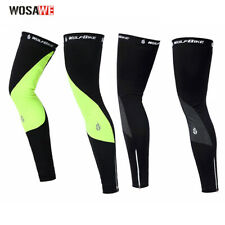 Bicycle Bike Leg Warmer Fleece Winter Cold Wind Guard Thermal Cycling x 1 Pair