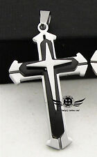 Men lady Valentine's day gift Titanium stainless steel Cross Couple Pendant ONLY
