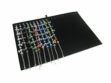 Black Velvet 20 Clips Bracelet Necklace Jewelry Display Insert for Tray Case