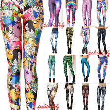 New Arrived Women Galaxy Digital Graphic Printing Leggings Pencil Pants Jumpsuit