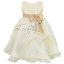 Girls Party/Flower/Formal/Wedding/Princess/Prom/Bridesmaid/Christening Dress 2-8