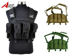 Tactical Military Airsoft Paintball Hunting Chest Rig Vest with 4 Magazine Pouch