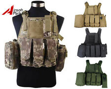 Tactical Military USMC Airsoft Paintball Hunting MOLLE Plate Carrier Combat Vest
