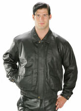 USA Leather Mens Aviator Black Genuine Leather Winter Jacket (S-5XL)