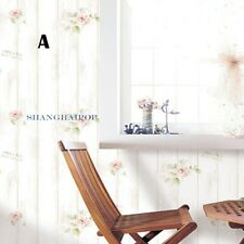 Self Adhesive Furniture Wallpaper Wood Grain Flower Vinyl  Sticker Retro 0.6MX1M