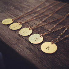 Initial necklace personalized Discs Custom Letter friendship Jewelry Gifts Charm